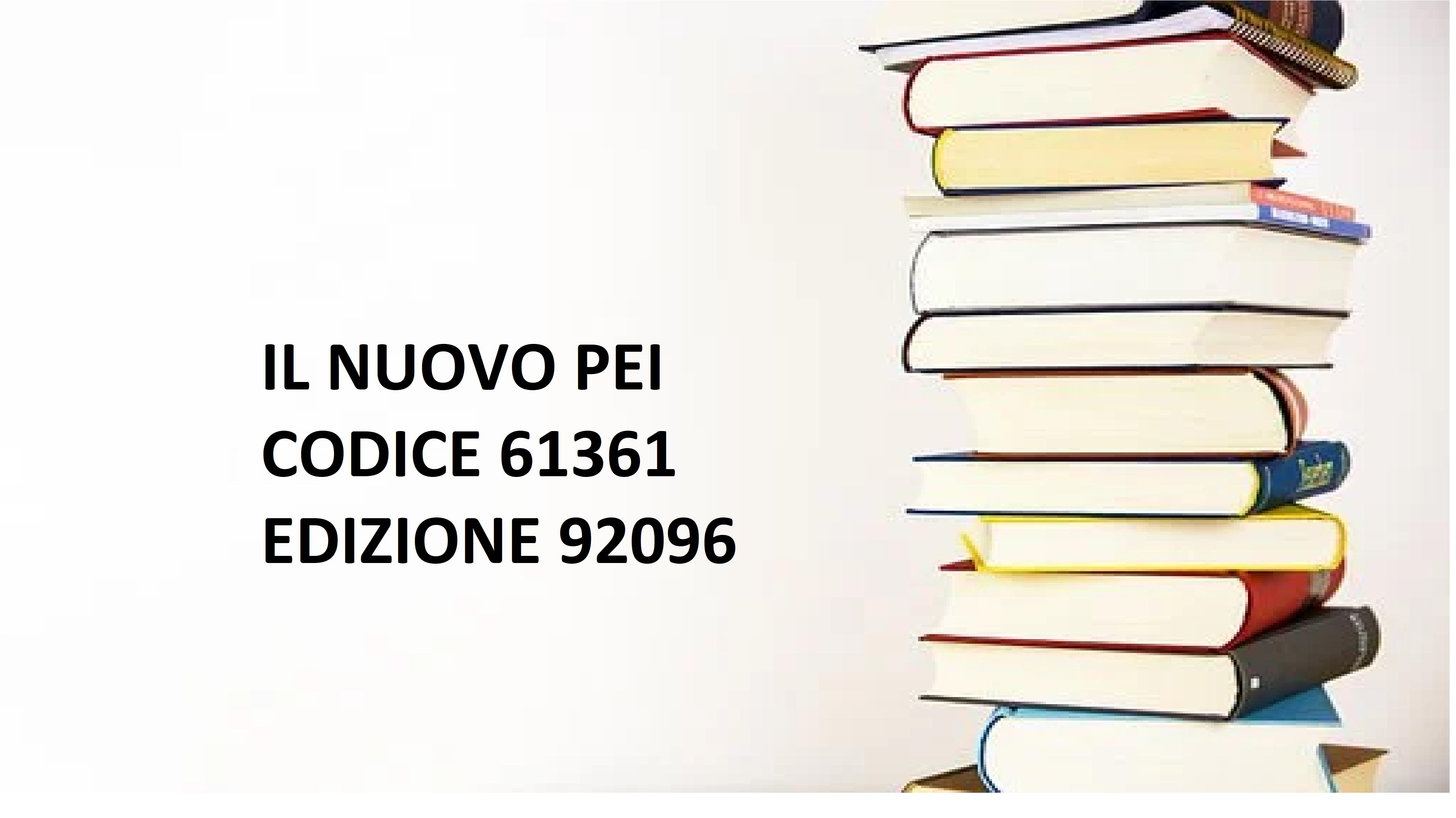 IL NUOVO PEI  codice 61361    EDIZIONE 92096